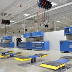 Rousseau Benches, Graco overhead reels, Rotary inground lifts