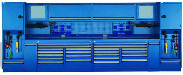 Rousseau Technician Work Center Blue