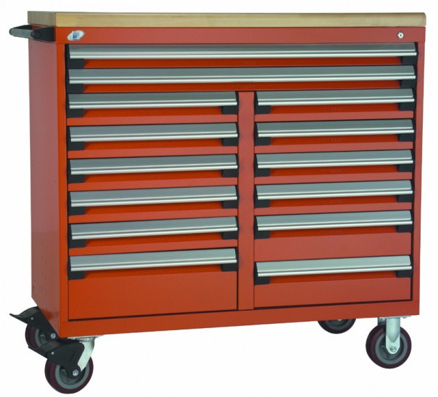 Rousseau multi-drawer mobile cabinet