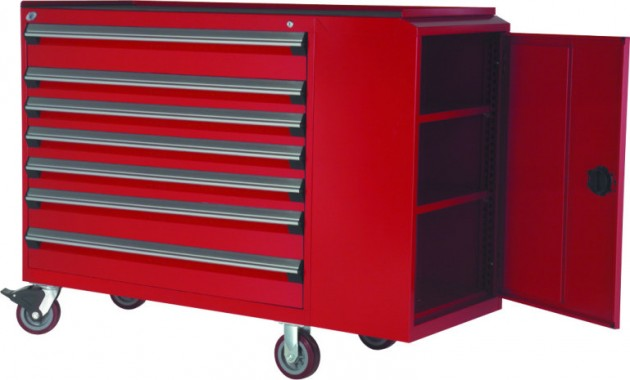 Rousseau Mobile Cabinet Red