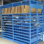 With quick assembly and sturdy construction, the Rousseau Spider® shelving system can respond to all your storage needs.