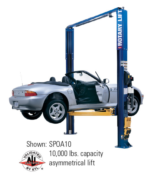 Rotary SPOA10 2 Post Asymmetric Lift