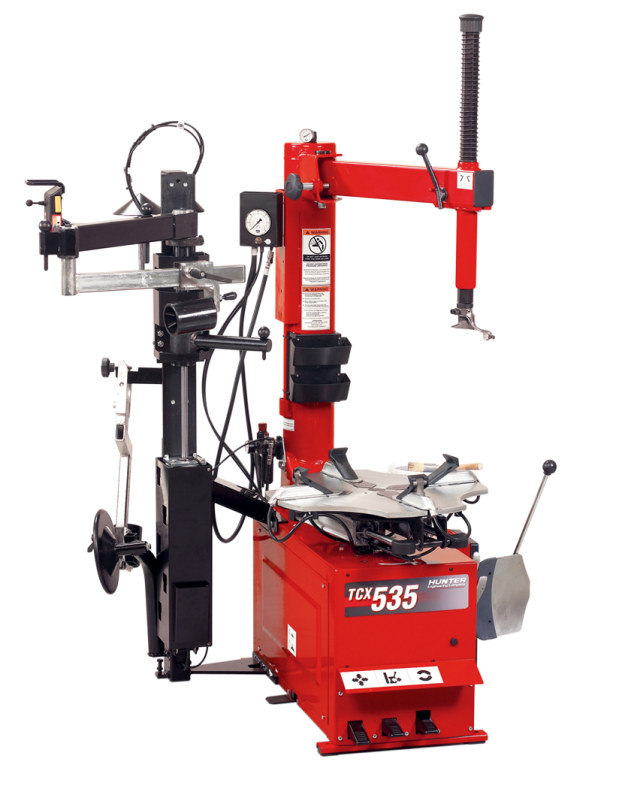 Hunter Tc 3700 Tire Changer 2 on tire inflation tank